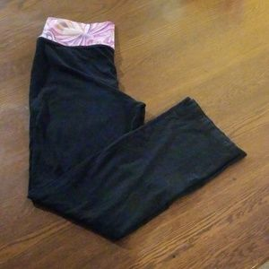 Old navy yoga pant large floral wide band workout